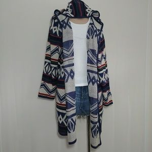 + Fashion Avenue Hoodie Cardigan Sweater